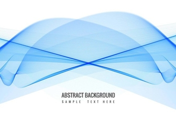 Free Vector Blue Wave background - Kostenloses vector #428063