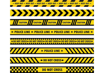 Danger Tape Vectors - Free vector #428073