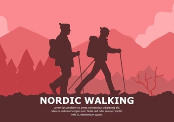 Nordic Walking Background - Kostenloses vector #428083