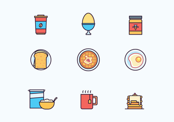 Breakfast Icons - Free vector #428093