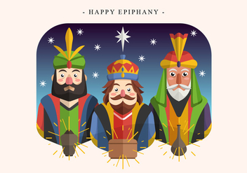 Happy Epiphany Day Vector Illustration - Kostenloses vector #428103
