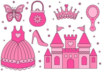 Free Princess Element Collection Vector - vector gratuit #428153
