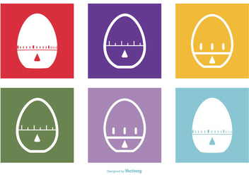 Egg Timer Icon Collection - vector #428163 gratis