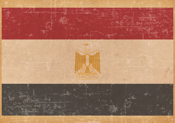 Flag of Egypt on Grunge Background - Kostenloses vector #428173