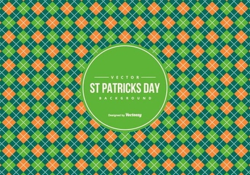 Argyle Pattern Background in St Patrick Day Colors - Free vector #428183