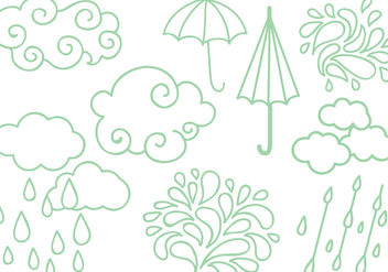 Free Rainy Season Vectors - бесплатный vector #428243