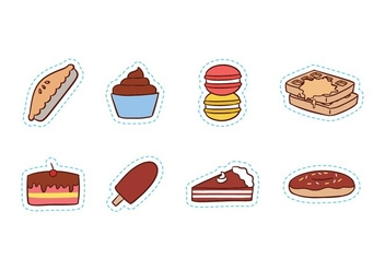 Free Sweet Food Icon Set - Free vector #428253