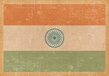 India Flag on Old Grunge Background - Kostenloses vector #428313