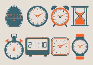 Timer Vector Icons Collection - vector gratuit #428373
