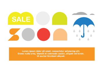 Monsoon Sale Offer Poster Vector Elements - Kostenloses vector #428423