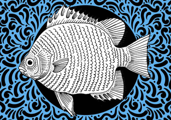 Ornate Fish Design - Kostenloses vector #428463