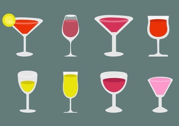 Free Alcohol and Cocktail Icons Vector - vector gratuit #428503