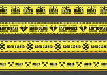 Warning Tape Vectors - vector gratuit #428613