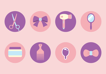 Free Hairdressing Tools Icon Vectors - vector #428653 gratis