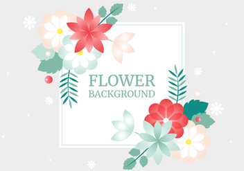 Free Spring Vector Flower Greeting Card - Kostenloses vector #428693