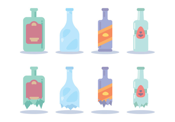 Breaking Bottle Various Vector - Free vector #428823