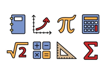 Mathematic Icons - vector gratuit #428853