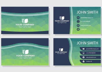 Free Polygonal Name Card Vector - vector gratuit #428873