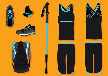 Nordic Walking Equipment Free Vector - vector #428923 gratis