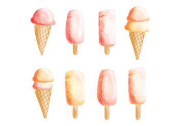 Vector Hand Drawn Ice Cream Collection - бесплатный vector #428973