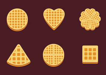 Waffles Slice Isolate Shape Vector Stock - бесплатный vector #429003