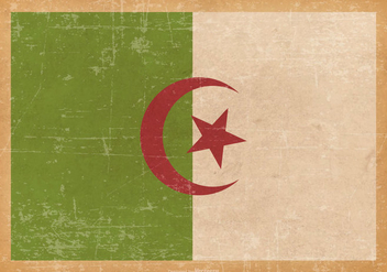 Flag of Algeria on Old Grunge Background - бесплатный vector #429013