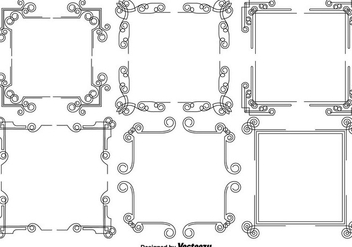 Vector Set Of Vintage Frames - Free vector #429023