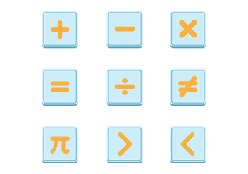 Free Math Symbols Vector Sets - Kostenloses vector #429053