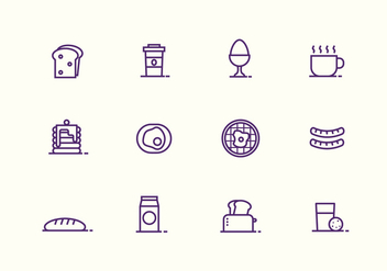 Breakfast And Bruch Vector Icons - бесплатный vector #429093
