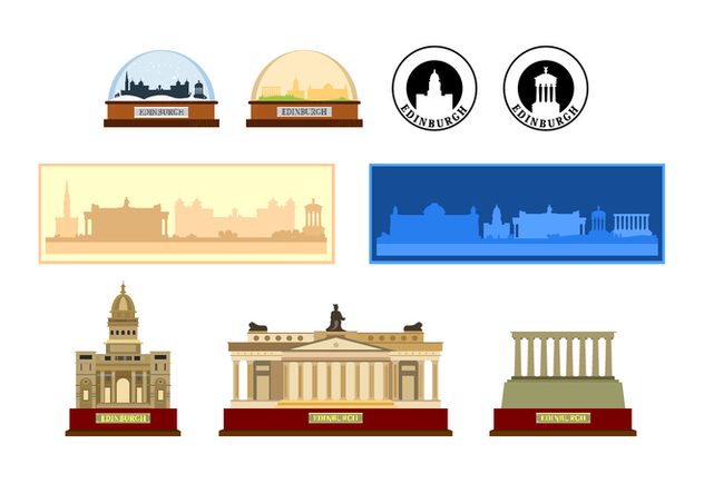 Edinburgh Souvenir Vectors - бесплатный vector #429103