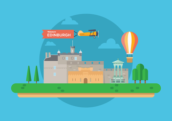 Welcome to Edinburgh Illustration - бесплатный vector #429133