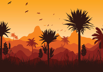 Yucca Mountain Sunset Free Vector - Free vector #429143