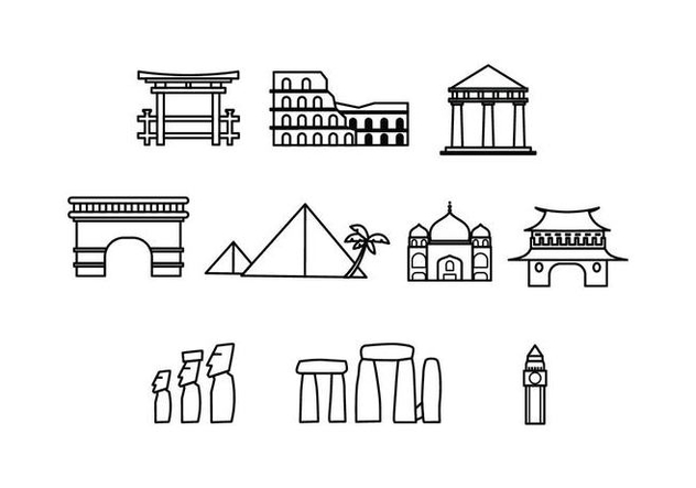 Free Landmark Icon Vector - vector gratuit #429183