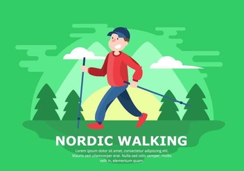 Nordic Walking Background - vector #429213 gratis