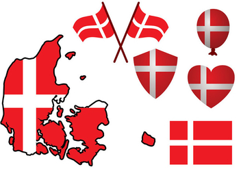 Danish Flag Vector - vector #429263 gratis