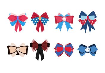 Cute Patriotic Hair Ribbon Free Vector - бесплатный vector #429293