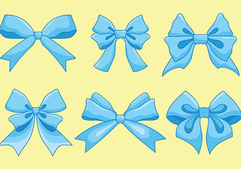 Free Hair Ribbon Icons Vector - Free vector #429303