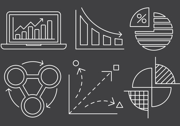 Free Linear Chart and Stats Icons - vector #429403 gratis