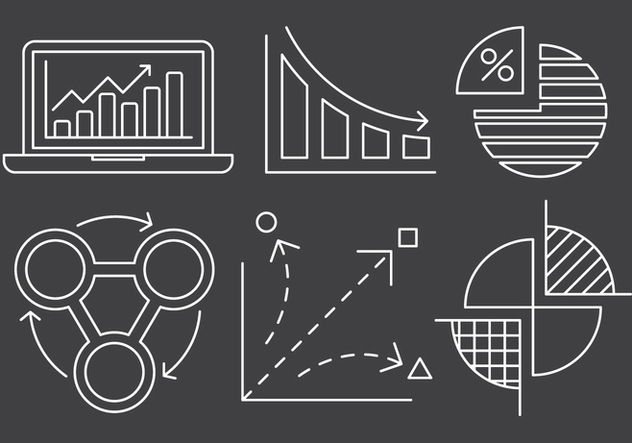 Free Linear Chart and Stats Icons - Free vector #429403