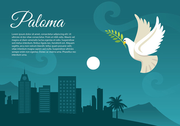 Paloma Night Free Vector - vector #429413 gratis