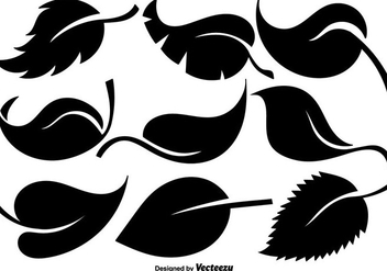 Vector Collection Of Flat Leaves Icons - vector #429453 gratis
