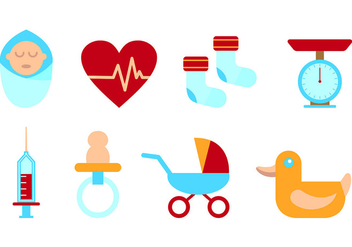 Set Of Maternity Icons - vector #429533 gratis