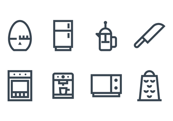 Kitchen Utensil Icon - Free vector #429553