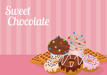 Sweet Chocolate Free Vector - Kostenloses vector #429583