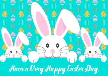 Cute Happy Easter Illustration - Free vector #429653