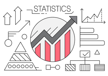 Linear Icons with Charts and Statistics - бесплатный vector #429663