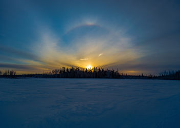 Sunrise Halo Irishtown Nature Park - бесплатный image #429753