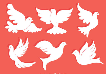 White Pigeon Collection Vector - vector #429823 gratis