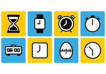 Timer Icon Set - vector #429893 gratis