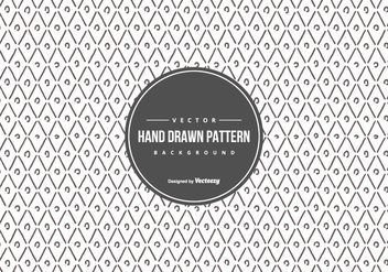 Cute Geometric Hand Drawn Style Pattern Background - бесплатный vector #429903